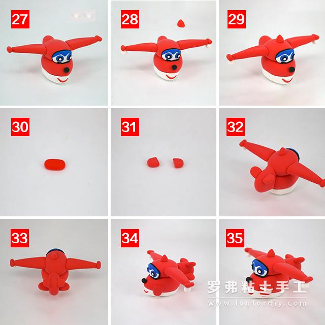 超级飞侠乐迪超轻粘土制作教程作品图片