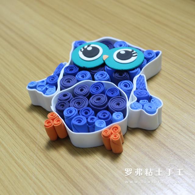 超轻粘土创意猫头鹰教程动物粘土制作方法