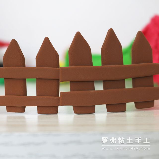 超轻粘土围栏栅栏篱笆教程制作方法_罗弗粘土手工