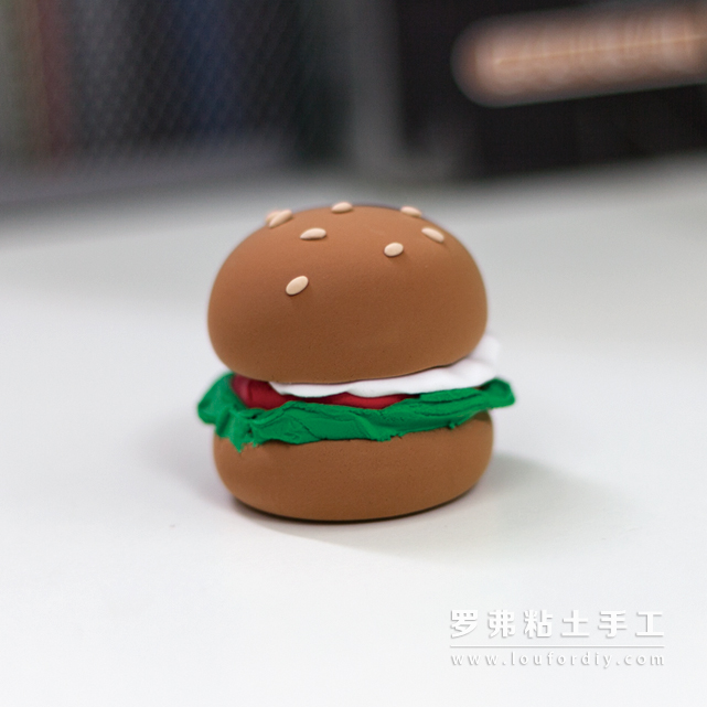美味的超轻粘土汉堡包制作教程