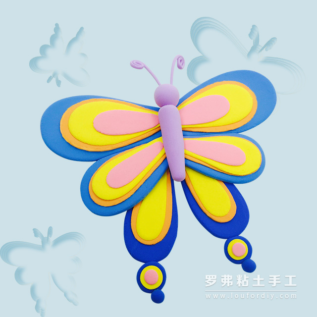 蝴蝶超轻粘土制作_小制作大全